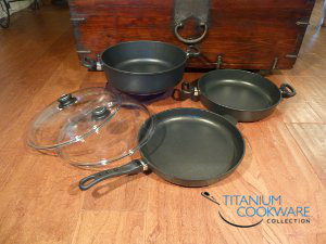 13 inch cookware set with casserole
