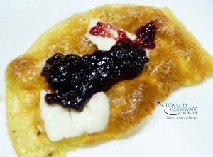 Cloud Bread with Butter and Jam
