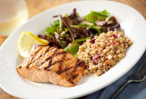 Salmon Risotto and Salad