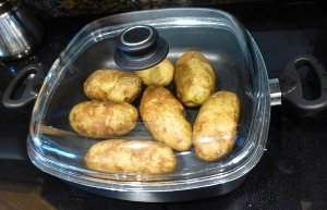 Stovetop Baked Potatoes